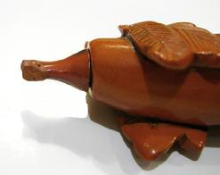 Antique Chinese Snuff Bottle - Sitting Eggplant - China - Stopper View