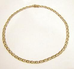 14K Yellow Gold Mariner Link Necklace -21""