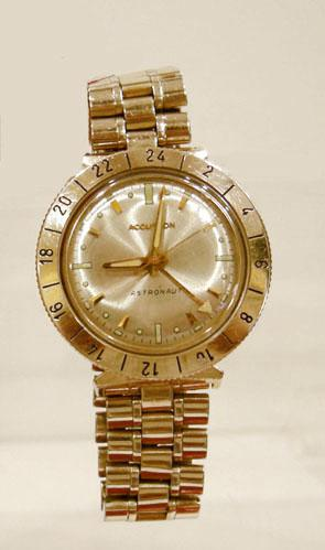 Men S Vintage Bulova Accutron Astronaut Watch 14k 24 Hour