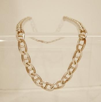 148 Yellow Gold Mariner Link Necklace - Closeup View