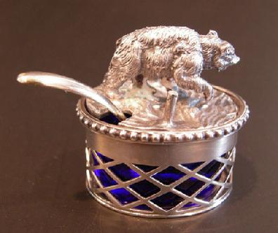 Italian Sterling Silver Covered Saccharin or Salt Container - Pinci
