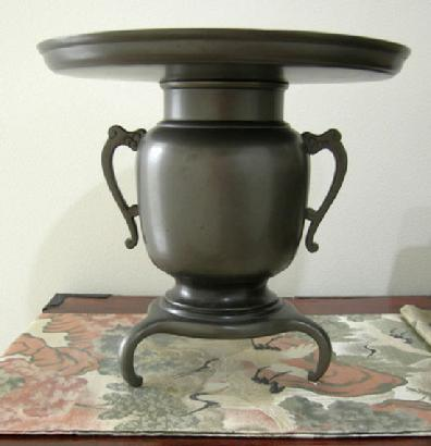 mixed metal vase fine antique japanese green silk metallic maru obi meijitaisho