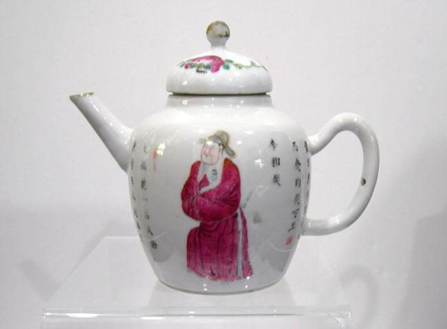 Antique Chinese Famille Rose Teapot - Qing